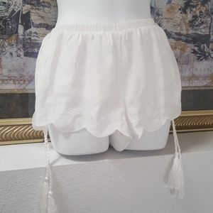 Mink Pink cotton white shorts